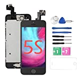 Replacement Screen for iPhone 5S/5SE [Black],Drscreen LCD Touch Screen Digitizer Full Assembly with Home Button and Camera,for A1533,A1457,A1453,A1530,A1723,A1662,A1724,w/Repair Tool