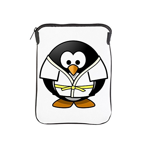 iPad 1 2 3 4 Air II Sleeve Case (2-Sided) Little Round Penguin - Martial Arts Karate Judo