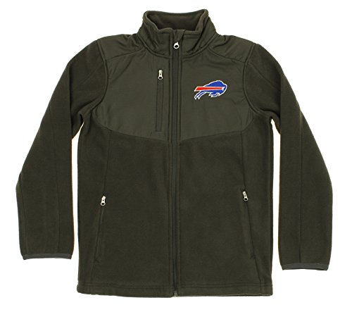 Outerstuff NFL Youth Boys Tactical Polar Fleece Full Zip Jacket, Various Teams (Buffalo Bills, Small (8))