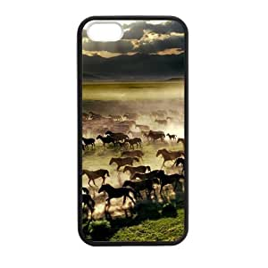 Canting_Good Horse Custom Case Shell Skin for iPhone 5 5S TPU (Laser Technology)