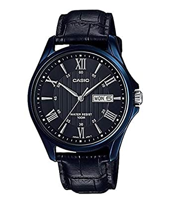 64ae5e343 Casio Dress Watch For Men Analog Leather - MTP-1384BUL-1A: Amazon.ae