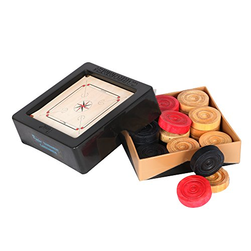 KD Precise Carrom Coins Carrommen Approved & Used By Carrom Federation of India, International Carrom Federation (Tournament - India Made In Model