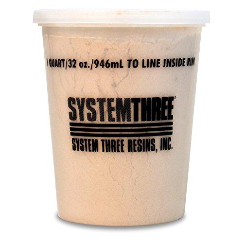 System Three 3110S16 Brown Wood Flour, 1 Quart Tub