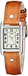 Timex Women's T2N905 Bristol Park Brown Leather Strap Watch