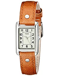Timex Women's T2N905 Bristol Park Honey Brown Leather Strap Watch