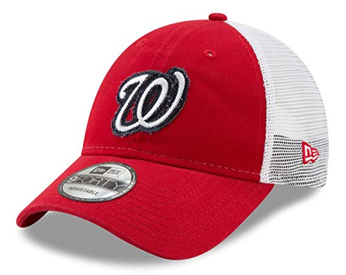 New Era Washington Nationals 9Forty MLB Team Truckered Adjustable Meshback Hat