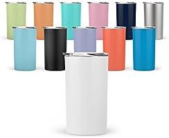 Maars Skinny Mini Insulated Tumbler for Coffee and Tea, 12 oz | Double Wall Vacuum Sealed | 2 Pack - Matcha Green