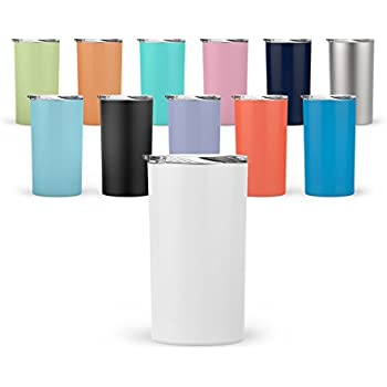 cd751bef60b Amazon.com: Silver Buffalo NL112296 Stainless Double-Walled Tumbler ...