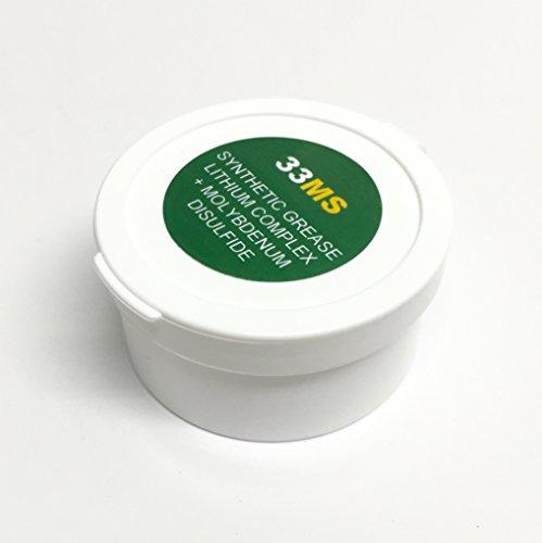 AEROSHELL 33MS Lithium Moly Synthetic MIL-SPEC Barrel Nut Thread Grease, 1 oz Jar