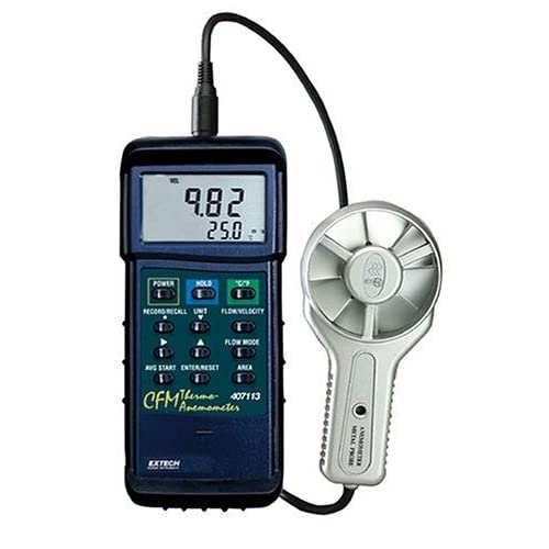 Image of Anemometers Extech 407113 CFM Metal Vane Anemometer