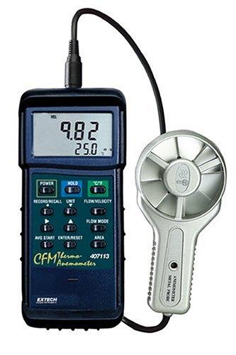 Extech 407113 CFM Metal Vane Anemometer