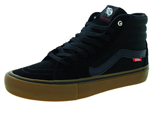 Vans Sk8-hi Unisex Casual High-top Skate Zapatos, Cómodo Y Duradero En Signature Waffle Rubber Sole Black / Gum