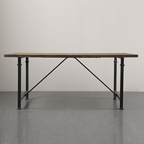 Madison Park Cirque Dining Table with Metal Legs, 72