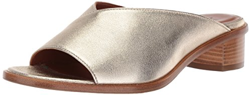 Aquatalia Women's Raven Metallic Leather Mule, Gold, 7.5 M M US