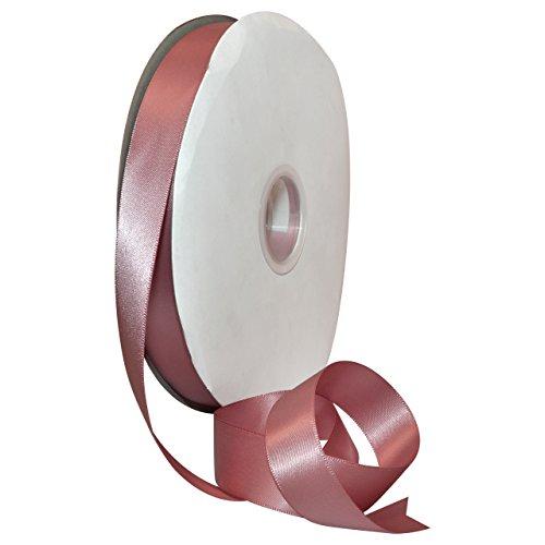 Ribbon Mauve Satin (Morex Ribbon 08822/00-165 Polyester Double Face Satin, 7/8