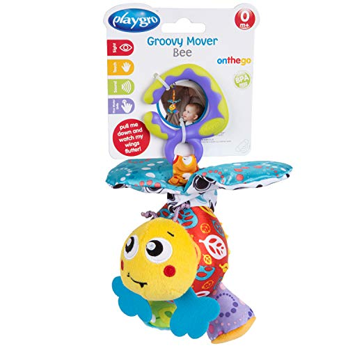 - Playgro 0186982 Groovy Mover Bee STEM Toy, Multi