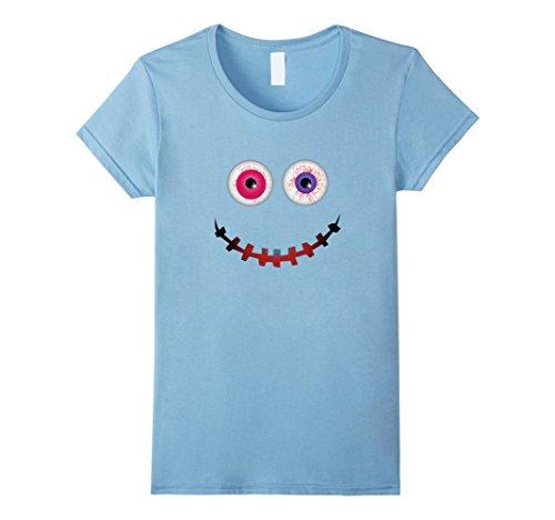 Womens Funny Halloween Costumes T-shirt Emoji Gifts Kid Adult 2017 Medium Baby Blue