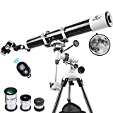 Gskyer Telescope, Astronomy Refractor Telescope, 80mm Aperture Travel Scope for Kids & Beginners - with Backpack & Smartphone Adapter & Bluetooth Camera Remote