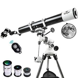 Gskyer Telescope, Astronomy Refractor Telescope, 80mm Aperture Travel Scope for Kids & Beginners – with Smartphone…