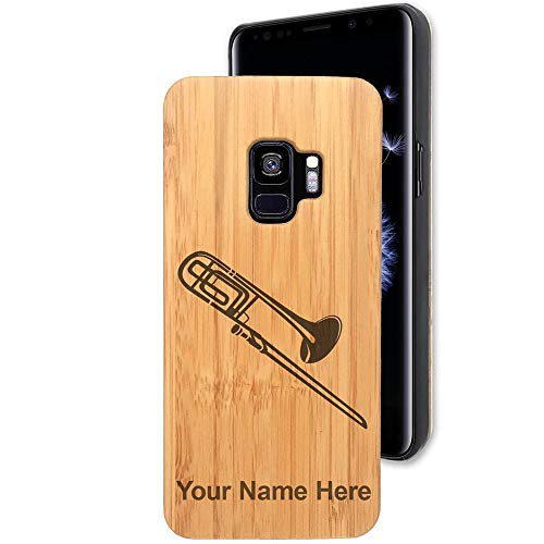 Bamboo Case for Galaxy S9/S9+ Plus, Trombone, Personalized Engraving ()