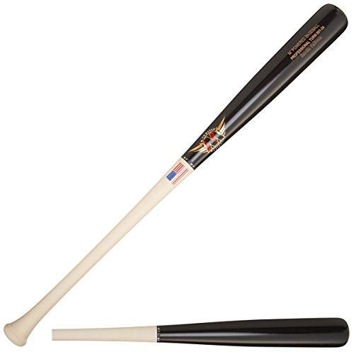Mpowered Baseball C-271 001 Professional Turn Raw Maple Handle Baseball Bats (Set of 3), Black Barrel, (Maple 271 Bat)