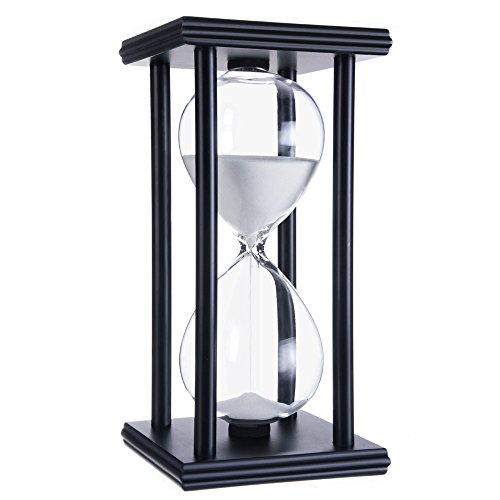hourglass sand timers (White sand,black frame,60min)