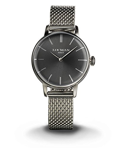 LOCMAN Watch 1960 LADY Only Time Quartz 5ATM Milan Mesh Strap 32mm Grey Dial