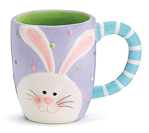 Amazon easter bunny face purple polkadots 14oz coffee mug amazon easter bunny face purple polkadots 14oz coffee mug kitchen dining negle Images