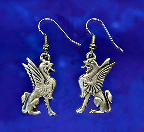 Griffin Earrings | Griffin Jewelry | Heraldic Jewelry in Fine Pewter (Griffin Jewelry)