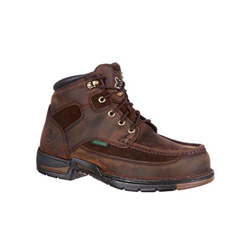Georgia Mens 6 Athens Non-Steel Moc-Toe Watrpf Work Shoe-G7403