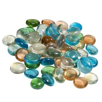 Glass Gems for Vase Accents and Crafting 1 Bag, Mixed Color Gems