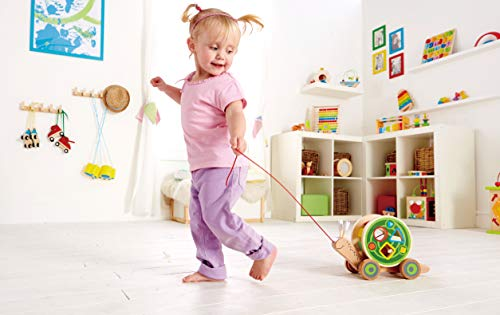 Award Winning Hape Walk-A-Long Snail Toddler Wooden Pull Toy
