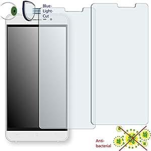 2 x Película de protección de pantalla DISAGU ClearScreen para Cubot Z100 antibacterial, filtro BlueLightCut película de protección (Intencionadamente es más pequeña que la pantalla ya que esta es curva)