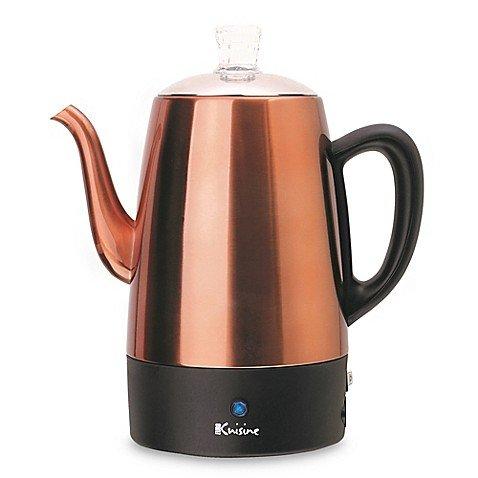 Euro Cuisine (Model PER08) 8-Cup Electric Coffee Percolator in Copper