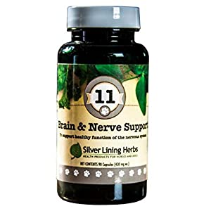 Gut Health Shop 41ARbhXmMEL._SS300_ Silver Lining Herbs 11 Canine Brain & Nerve Support - Natural Product Helps Maintain Nervous System, Brain, & Spinal…