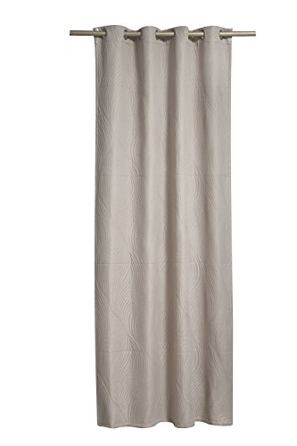 Brielle Stream Reversible Grommet Window Curtain, Grey/Linen, 50