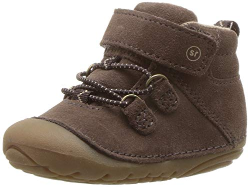 Stride Rite Blake Baby Boy's High-Top Suede Sneaker Ankle Boot, Dark Brown 6 W US Toddler