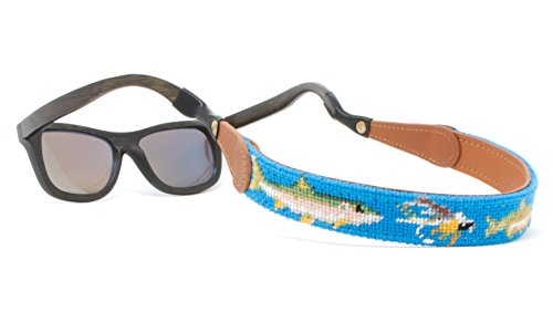 Needlepoint Blue (Needlepoint Sunglass Strap Sunglass Retainer by Huck Venture (Fly Fishing))