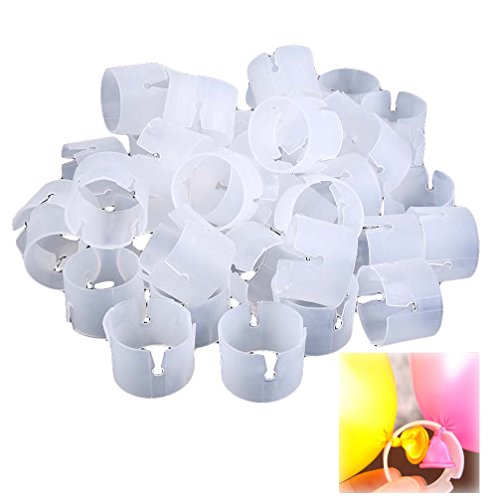 BestWare 50 Pcs/set Decorative Easily Balloons Connectors Clips DIY Arches Wedding Party Prom