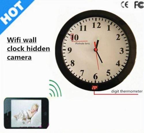 Wifi Wall Clock Hidden Spy Camera P2p Motion Detection