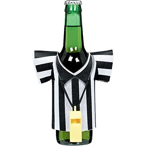 Spirit Referee Costume (Football Frenzy Birthday Party Referee Foam Drink Kozy with Plastic Whistle Decoration, Plastic, 5