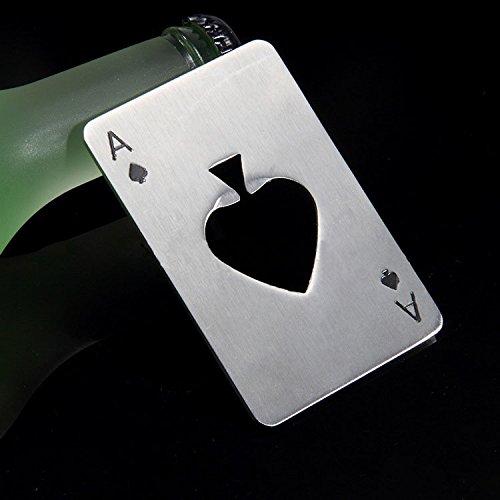 Jd Million Shop Portable Stainless Steel Poker Shaped Beer Bottle Opener Credit Cards Size For Wallet Bar Tools Kitchen Gadgets