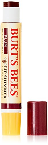 Burt's Bees Lip Shimmer, Plum 0.09 oz (Pack of 4) by Burt's Bees