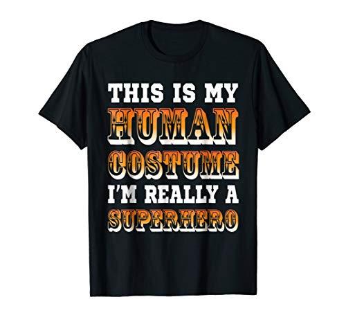Funny Halloween Superhero Costume Kids Adult Men Women Shirt for $<!--$13.07-->