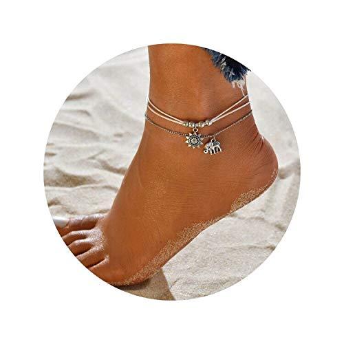 QXFQJT Boho Ankle Bracelet Anklet