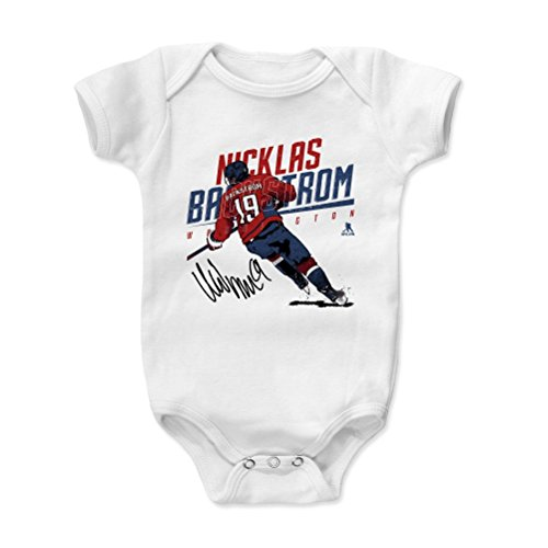 500 LEVEL Nicklas Backstrom Washington Capitals Baby Clothes, Onesie, Creeper, Bodysuit (12-18 Months, White) - Nicklas Backstrom Skate R