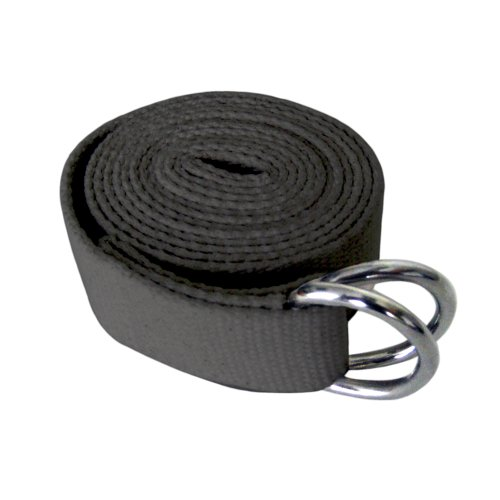 MERRITHEW Yoga Strap, 100% Cotton (Charcoal), 118 inch / 300 cm