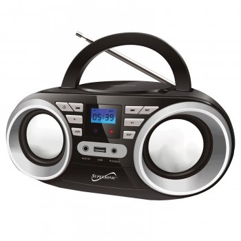 Supersonic Black Portable Audio System MP3/CD Player