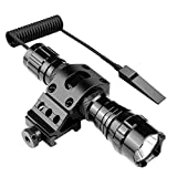Feyachi FL11 Tactical Flashlight 1200 Lumen LED Light with Picatinny Rail Mount