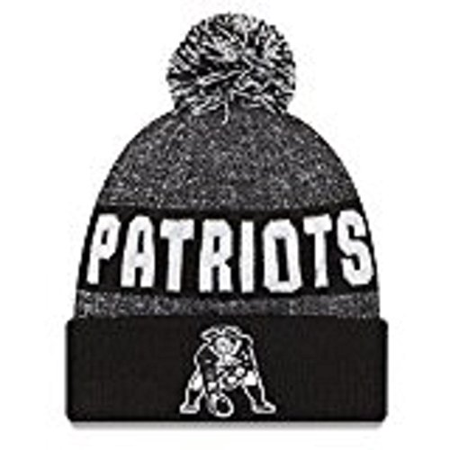100% Authentic, NWT, NFL New England Patriots Classic 2016 Black & White Sport Knit Beanie One Size